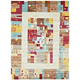 Unique Loom Native Collection Tribal Modern Kids Multi Area Rug (10' x 13')