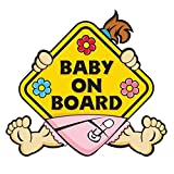 Baby ON Board Sticker Car Decals Safety Signs Self-Adhesive Easy to Install Waterproof Long to Last(1/2pcs Optional) (Color : C)