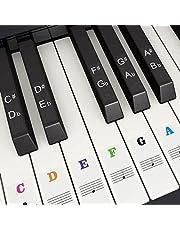 byou Pianoklistermärke, tangentbordsklistermärken genomskinliga borttagbara flerfärgade klistermärken för 37 49 54 61 88 tangenter elektroniskt tangentbord