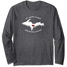 MY HAPPY PLACE Upper Peninsula Michigan Yoopers 906 Shirt