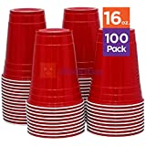 Red Solo Cup Cold Plastic Party Cups 16 Ounce 100 Pack