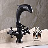 WYMBS Creative furniture decoration bathroom accessories Continental black bronze Dolphin faucet hot and cold sink lavatory faucet