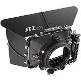 JTZ DP30 Cine Carbon Fiber 4x4 Matte Box with 15mm/19mm Rod Rail Rig and Top Handle for Sony FS5 FS7 ARRI RED Canon C100 C200 C300 BM D Blackmagic BMPCC BMCC Pocket Cinema Panasonic GH4 GH5 Camera