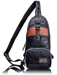 Leaper Multipurpose Sling Chest Pack Shoulder Unbalance Gym Satchel Outdoor Bike Bag Black