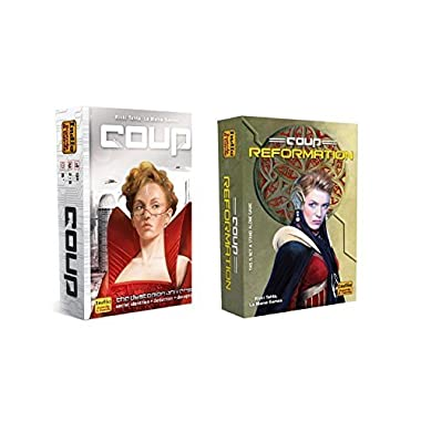 Coup Game Bundle including Coup (The Dystopian Universe) and Coup Reformation expansion by Indie Boards and Cards (2 items)