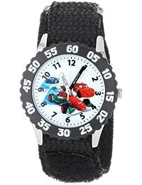 Kids' W001033 Cars Stainless Steel Time Teacher Black Bezel Black Nylon Strap Watch