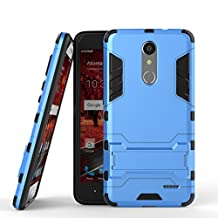 ZTE Grand X4 Stand Case DWaybox 2 in 1 Hybrid Heavy Duty Armor Hard Back Case Cover for ZTE Grand X 4 / ZTE Grand X4 Z956 5.5 Inch (Light Blue)