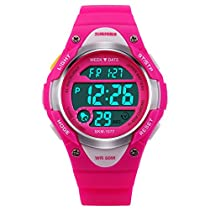 Kids Watch Children Outdoor Sports Digital LED Alarm Waterproof Wristwatch Boys Stopwatch