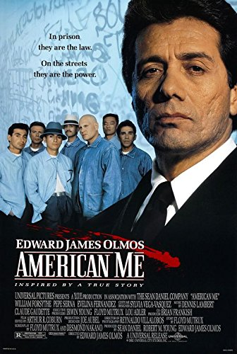 AMERICAN ME (1992) Innovative Authentic Movie Poster 27x40 - Double - Sided - Edward James Olmos - William Forsythe - Sal Lopez - Dyana Ortelli