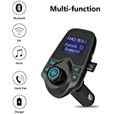 FM Transmitter, AMAZINGEMARKET Bluetooth FM Transmitter Wireless Radio Car Kit Adapter W TF Card Slot and 2 USB Charger Ports Support USB Flash Drive and Micro SD Card