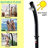 7.2FT Solar Heated Shower with Free-Rotating Shower