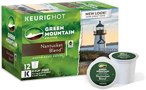 Green Mountain Coffee Keurig Single-Serve K-Cup Pods, Nantucket Blend Medium Roast Coffee, 72 Count (6 Boxes of 12 Pods)