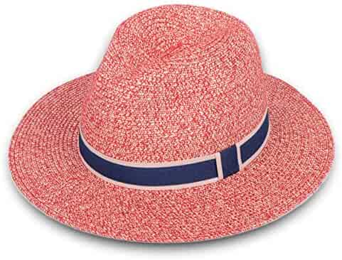 Lanzom Women Wide Brim Straw Panama Roll up Hat Fedora Beach Sun Hat UPF50+ 4d64f717ce4