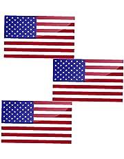 Ster Streep Bumpersticker Auto Decal 11.5x6.5cm Amerikaanse Vlag Decal - Patriottische Sterren Reflecterende Streep Vlag Auto Stickers - Steun Amerikaanse Militaire