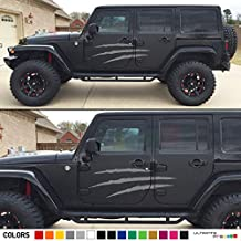 Pair of Beast/Monster Scratches Decal Sticker Vinyl Kit Compatible with Jeep Wrangler JK J8 Hard/Soft Top