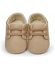 Baby Boys Girls PU Leather Toddler Sneaker Anti-Slip First Walkers Candy Shoes Prewalkers 0-24 Months