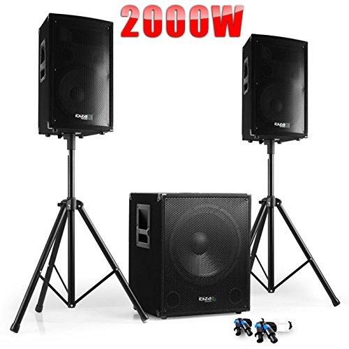PACK Sono DJ CUBE 1512 + DISCO 12 + PIEDS + CÂBLES product image