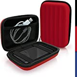 iGadgitz Red EVA Hard Travel Case Cover for Seagate Backup Plus+ For Mac, Wireless Plus Mobile Storage Portable External Hard Drives