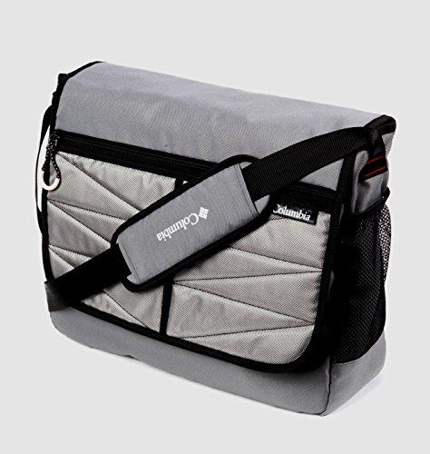 Columbia Global Adventure Messenger Diaper Bag, Grey