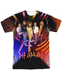 Trevco Mens Def Leppard Double Sided Print Sublimated T-Shirt T-Shirt