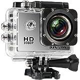 Câmera SJCAM SJ4000 Original Filmadora 12mp Sports DV full HD 1080p 30fps a prova d´água 30m mergulho LCD 2.0 Bike Moto Surf - PRATA