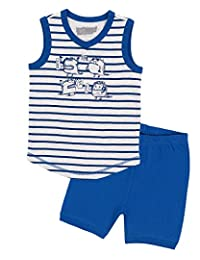 Deux par Deux Boys' Shorts and Striped T-Shirt Pyjamas Set, Sizes 2-12