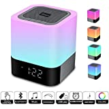 WamGra Night lights Bluetooth Speaker,Touch Sensor Bedside Lamp Dimmable Warm Light,Color Changing Bedside Lamp,MP3 Music Player,Wireless Speaker with Lights (Newest Version)