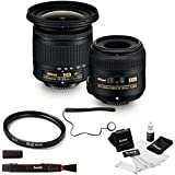 Focus Camera Nikon Landscape and Macro Two Lens Kit with 10-20mm and 40mm Nikkor Lenses + Kit