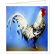 Rooster Hamburg - Blank Note Cards - Set of 6 with Envelopes by Doggylips
