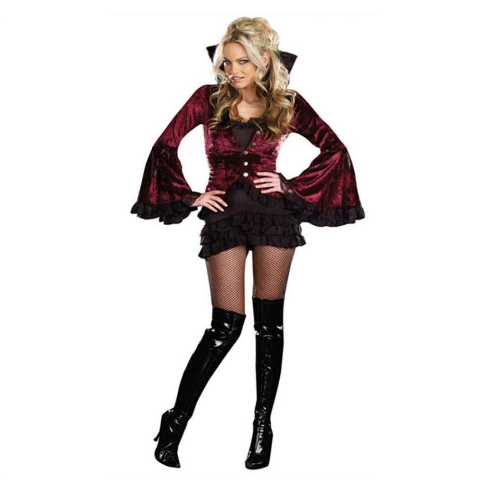 SPFAZJ Halloween-Kostüm weiblichen Earl Rolle Spielen Vampir Kostüm Hexenkleid Nachtclub Bühne Outfit