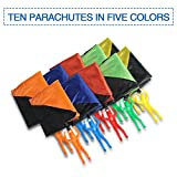 10 Packs Parachute Men Tangle Free Outdoor Flying