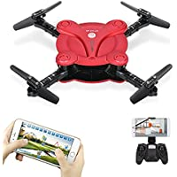 Goolsky FQ17W RC Drone with Camera Live Vedio Wifi FPV Foldable G-sensor Altitude Hold Quadcopter