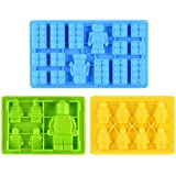 Candy Molds & Ice Cube Trays Building Bricks and Figures - Fun, Toy Kids Set