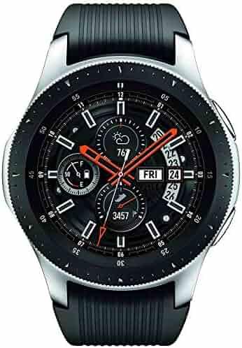 Samsung Galaxy Watch (46mm) Silver (Bluetooth), SM-R800NZSCXAR - Bundle (Certified Refurbished)