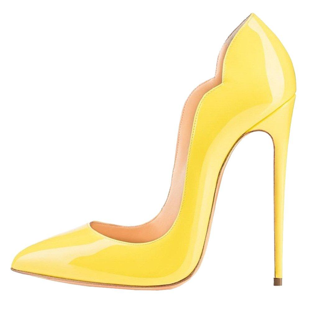 EKS - Zapatos de Tacón Mujer 44 EU|amarillo