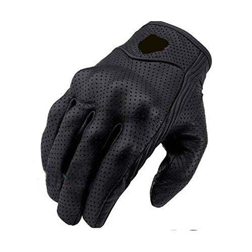 Warm your hands &World Handschuhe Motorradhandschuhe aus Vollleder für Lange, windfeste Handschuhe