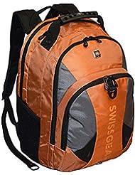 SwissGear® Pulsar 16 Padded Laptop Backpack - Black/Orange