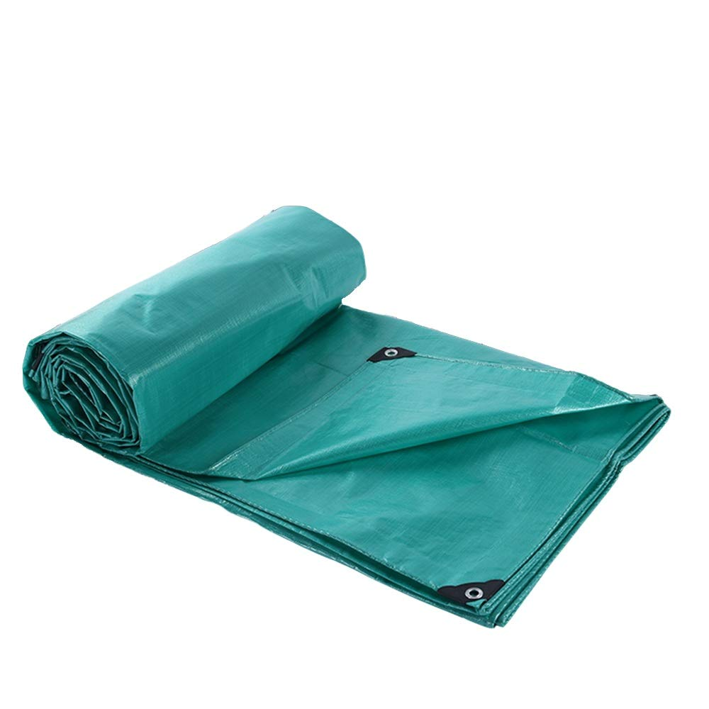 YANFEI Planen, Tarps Thicken Rainproof Cloth Wasserdichte PE-Plane Outdoor Truck Cover Canvas, 195g   m² (größe   5  7m)