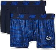 "New Balance Mens Premium Performance 3"" Trunk Underwear (Pack"
