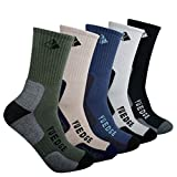 YUEDGE Men's Performance Wicking Crew Business Casual Socks For Outdoor Sport Hiking