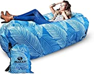 MaxIT Inflatable Hammock Sofa | Pool Floating Air Lounger Bed for Adults or Kids, Perfect for Tanning or Relax