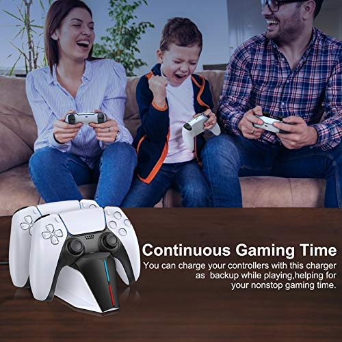 BEBONCOOL PS5 Charging Station, Patent-designed Fast PS5 Controller Charger Station, Playstation 5 Dualsense Charging Station, Dual PS5 Charging Dock PS5 Charger for Sony w/ Type C Charging Cable