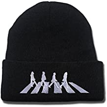 JRICK The Beatles Abbey Road Logo Beanie Fashion Unisex Embroidery Beanies Skullies Knitted Hats Skull Caps