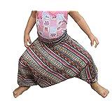 Raan Pah Muang Brand Light Viscose Smock Kids Aladdin Pants Bright Prints