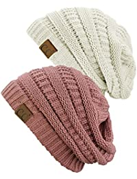 Trendy Warm Chunky Soft Stretch Cable Knit Beanie Skully,...