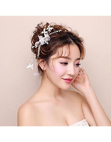 LYM  Headwear Guirnalda de flores tocado nupcial boda boda gran corona banda  para el pelo vestido 668713aca158
