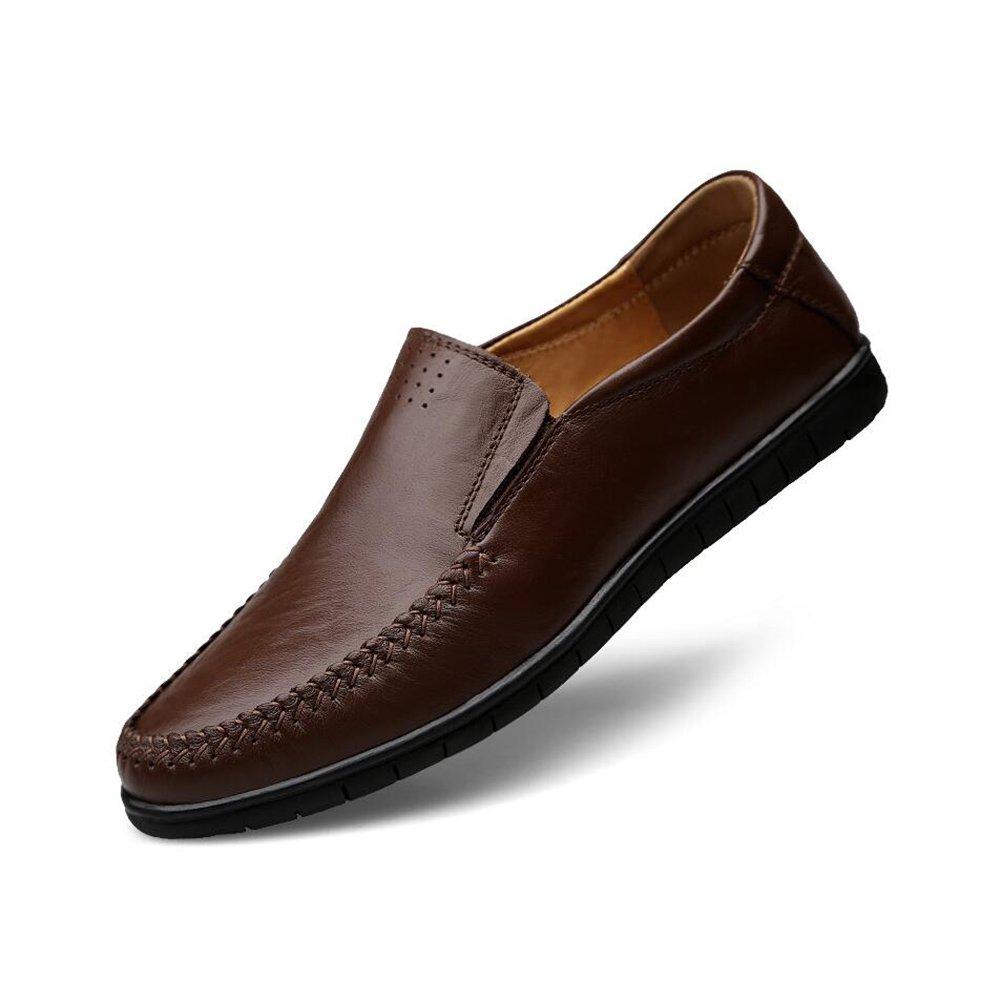 Sandalias y chanclas CJC Zapatos Mocasines Casuales de los Hombres Mocasines Planos Que Caminan Que conducen Trabajo Formal Ligero del Negocio Cómodo (Color : O, Tamaño : EU42/UK8.5) EU42/UK8.5|O