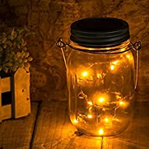 LED Color Changing Fairy Light, Outdoor Solar Mason Jar Lamp And Home Garden Decorative Glass Vase Tank Wishing Bottle Plug (Warm White 1PCS)