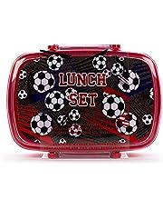 Tri-Coastal Design - Behållare för lunch i åter bambu, ger lätt och portabel bambu Bento Lunch (Soccer)
