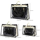 3PCS Handbag Dust Cover Bag Clear Moistureproof